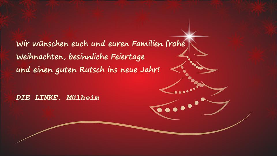 Grüße zum Jahresabschluss: DIE LINKE. Mülheim/Ruhr